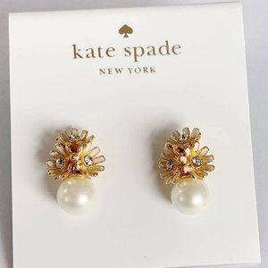 Kate Spade Flower Pearl Stud Earrings